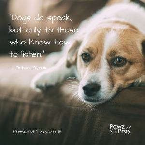 """Dogs speak, but only to those who listen."""