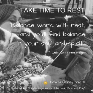 Take time to rest