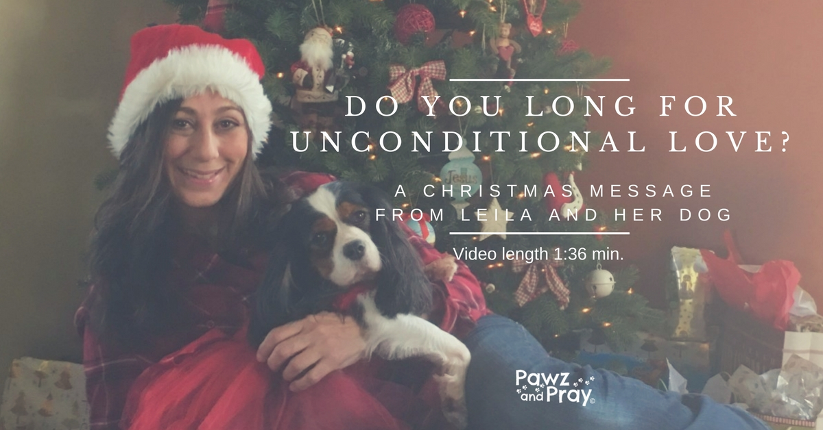 Do You Long for Unconditional Love? [A Christmas Message from Leila and her Dog, video 1:36 min]