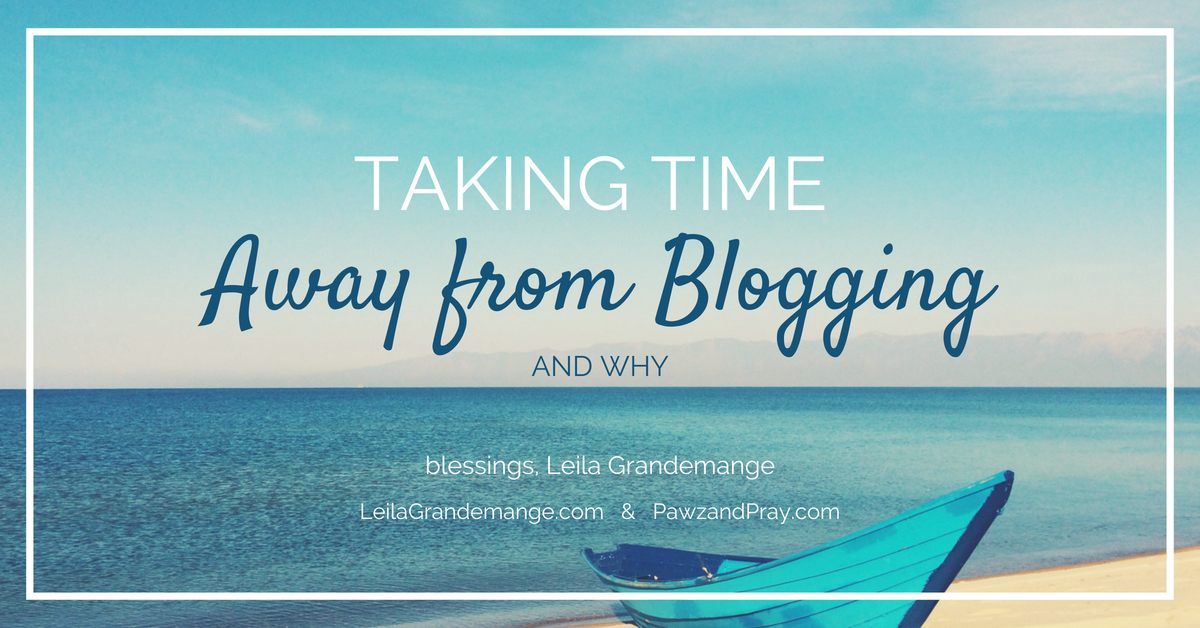 Taking Time Away from Blogging and Why